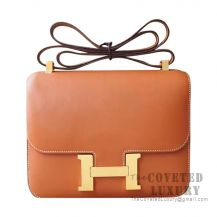 Hermes Constance 23 Bag CC37 Gold Swift GHW