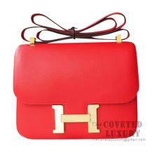 Hermes Constance 23 Bag S5 Rouge Tomate Swift GHW