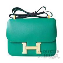 Hermes Constance 23 Bag U4 Vert Vertigo Swift GHW