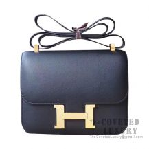Hermes Constance 23 Bag 89 Noir Swift GHW