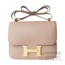 Hermes Constance 23 Bag 1F Argile Tadelakt GHW
