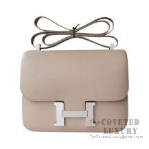 Hermes Constance 23 Bag 1F Argile Tadelakt SHW