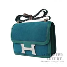 Hermes Constance 23 Bag Z6 Malachite Grizzly And Swift SHW