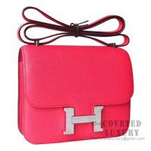 Hermes Mini Constance 18 Bag I6 Rose Extreme Epsom SHW