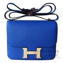 Hermes Mini Constance 18 Bag I7 Blue Zellige Epsom GHW