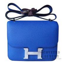 Hermes Mini Constance 18 Bag I7 Blue Zellige Epsom SHW