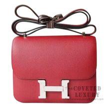 Hermes Mini Constance 18 Bag K1 Rouge Grenat Epsom SHW