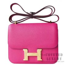 Hermes Mini Constance 18 Bag L3 Rose Purple Epsom GHW