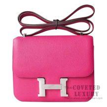 Hermes Mini Constance 18 Bag L3 Rose Purple Epsom SHW