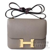 Hermes Mini Constance 18 Bag M8 Gris Asphalt Epsom GHW