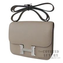 Hermes Mini Constance 18 Bag M8 Gris Asphalt Epsom SHW