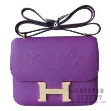 Hermes Mini Constance 18 Bag P9 Anemone Epsom GHW