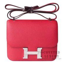 Hermes Mini Constance 18 Bag Q5 Rouge Casaque Epsom SHW
