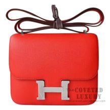 Hermes Mini Constance 18 Bag S3 Rouge De Coueur Epsom SHW