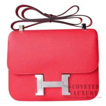 Hermes Mini Constance 18 Bag S5 Rouge Tomate Epsom GHW