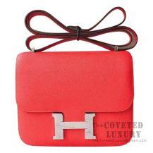 Hermes Mini Constance 18 Bag S5 Rouge Tomate Epsom SHW