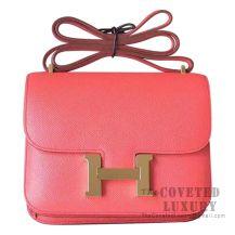 Hermes Mini Constance 18 Bag T5 Rose Jaipur Epsom GHW