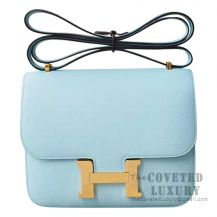 Hermes Mini Constance 18 Bag U2 Blue Zephyr Epsom GHW
