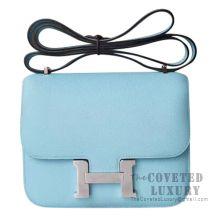 Hermes Mini Constance 18 Bag U2 Blue Zephyr Epsom SHW