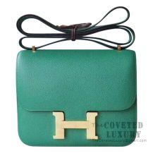 Hermes Mini Constance 18 Bag U4 Vert Vertigo Epsom GHW