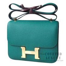 Hermes Mini Constance 18 Bag Z6 Malachite Epsom GHW