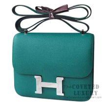 Hermes Mini Constance 18 Bag Z6 Malachite Epsom SHW