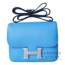 Hermes Mini Constance 18 Bag 2T Blue Paradise Epsom SHW