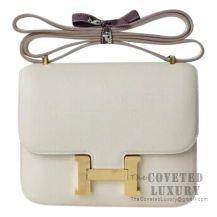 Hermes Mini Constance 18 Bag CC10 Craie Evercolor GHW