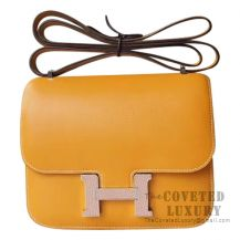 Hermes Mini Constance 18 Bag 1A Paille Swift With Lizard Buckle
