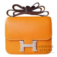 Hermes Mini Constance 18 Bag 1H Toffee Swift SHW