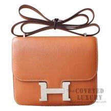 Hermes Mini Constance 18 Bag CC37 Gold Swift SHW