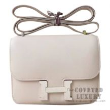Hermes Mini Constance 18 Bag CC80 Pearl Grey Swift SHW