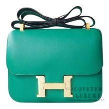 Hermes Mini Constance 18 Bag U4 Vert Vertigo Swift GHW
