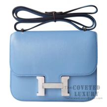 Hermes Mini Constance 18 Bag 2T Blue Paradise Swift SHW