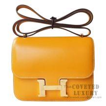Hermes Mini Constance 18 Bag 1A Paille Tadelakt GHW
