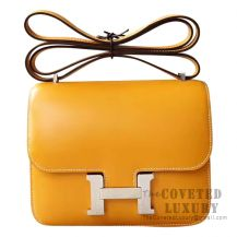 Hermes Mini Constance 18 Bag 1A Paille Tadelakt SHW