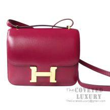 Hermes Mini Constance 18 Bag B5 Ruby Tadelakt GHW