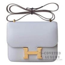 Hermes Mini Constance 18 Bag CC80 Pearl Grey Tadelakt GHW