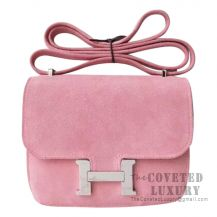 Hermes Mini Constance 18 Bag 3Q Rose Sakura Grizzly SHW