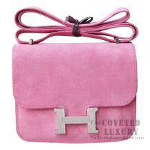 Hermes Mini Constance 18 Bag 5N Rose Indien Grizzly SHW