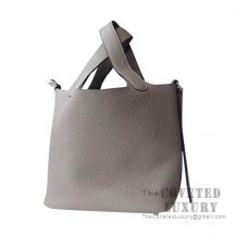 Hermes Picotin Lock 18 Bag 8F Etain Clemence SHW