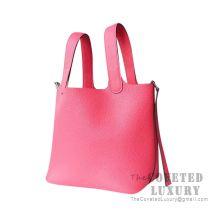 Hermes Picotin Lock 18 Bag 8W Rose Azalee Clemence SHW