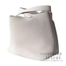 Hermes Picotin Lock 18 Bag CC10 Craie Clemence GHW