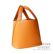 Hermes Picotin Lock 18 Bag I9 Apricot Clemence SHW