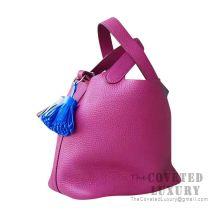 Hermes Picotin Lock 18 Bag L3 Rose Purple Clemence SHW