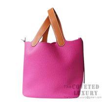 Hermes Picotin Lock 18 Bag L3 Rose Purple Barenia And Clemence SHW