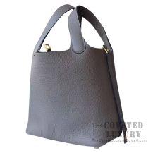 Hermes Picotin Lock 18 Bag M8 Gris Asphalt Clemence GHW