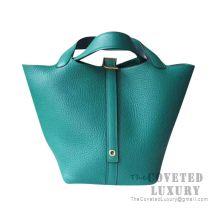 Hermes Picotin Lock 18 Bag U4 Vert Vertigo Clemence GHW
