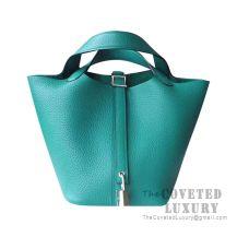 Hermes Picotin Lock 18 Bag U4 Vert Vertigo Clemence SHW