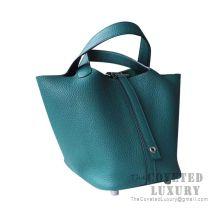 Hermes Picotin Lock 18 Bag Z6 Malachite Clemence SHW